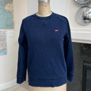 Levi's crewneck sweatshirt blue indigo small